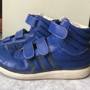 Adidas high top sneakers men's size 9.5